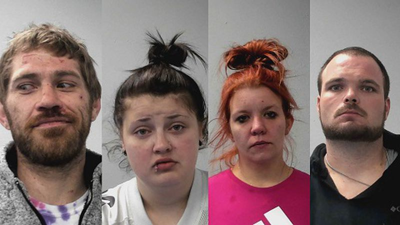 Mugshots of the arrested.
