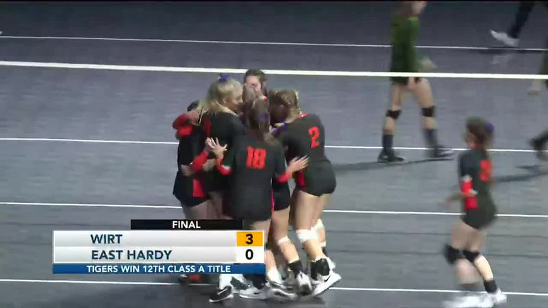 Tigers Sweep their way to back to back Class A volleyball championships