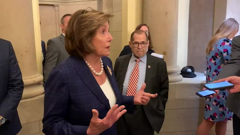 House Speaker Nancy Pelosi says she had hoped that by now the Senate would have voted again on...