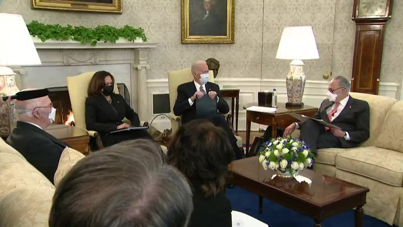 Biden sits down with Senate Democrats as they chart a path for multiple administration...