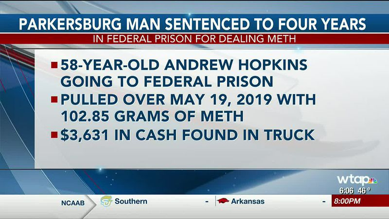 WTAP News @ 6 - Parkersburg man sentenced to four years in federal prison for dealing meth