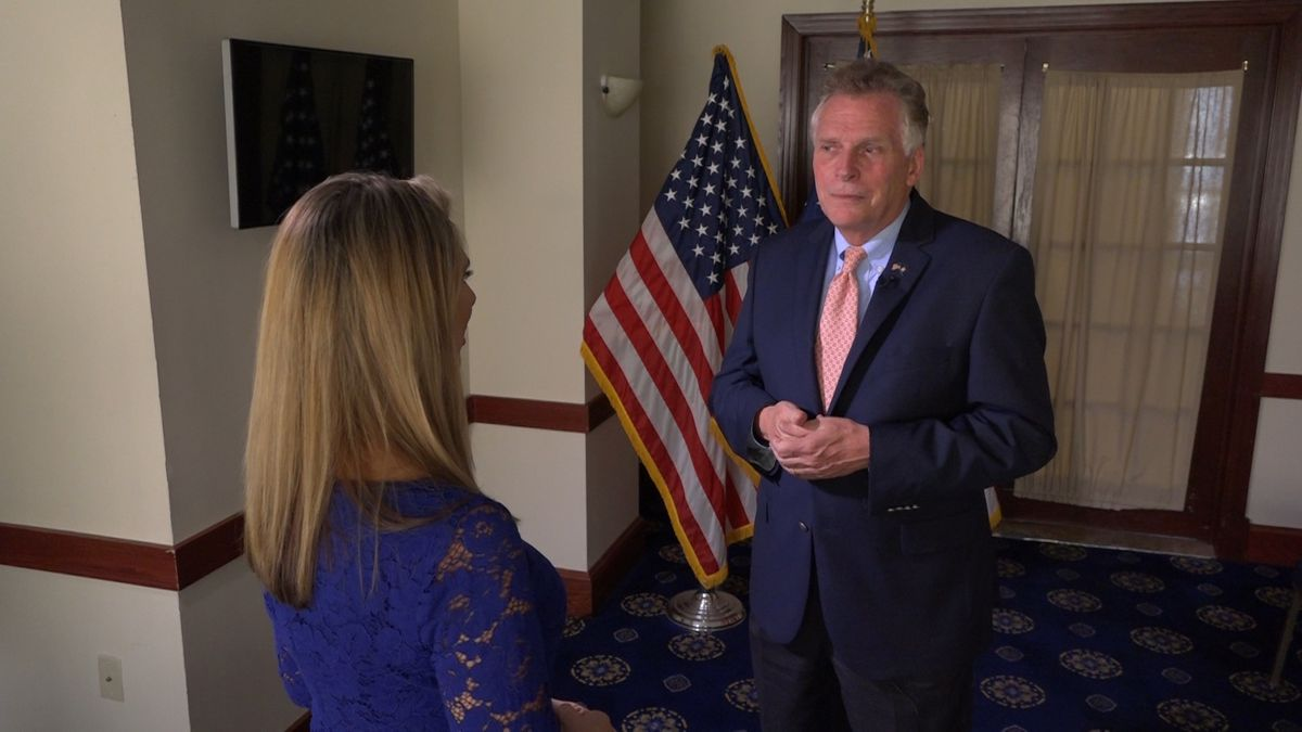 Former Virginia Governor Terry McAuliffe discusses his new book on the 2017 deadly Unite the Right rally in Charlottesville during an interview with Washington Correspondent Alana Austin. (Source: GrayDC)