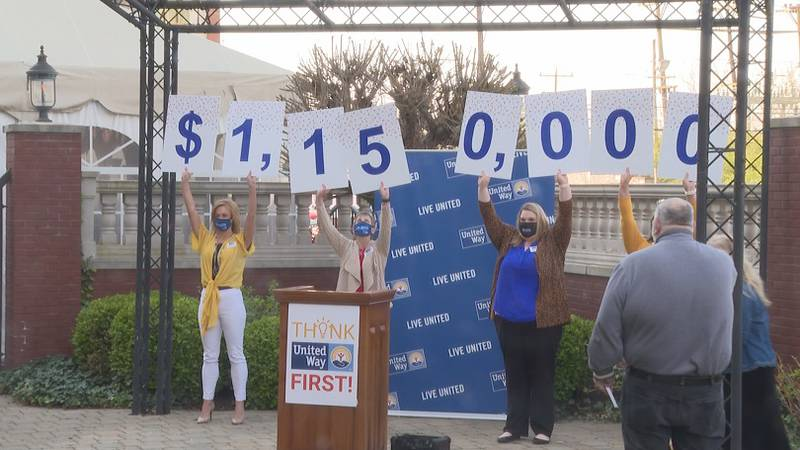 The United Way Alliance announced $1,150,000 in fundraising