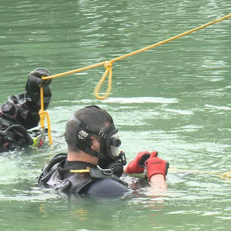 Divers search for the fake body in a race against the clock.