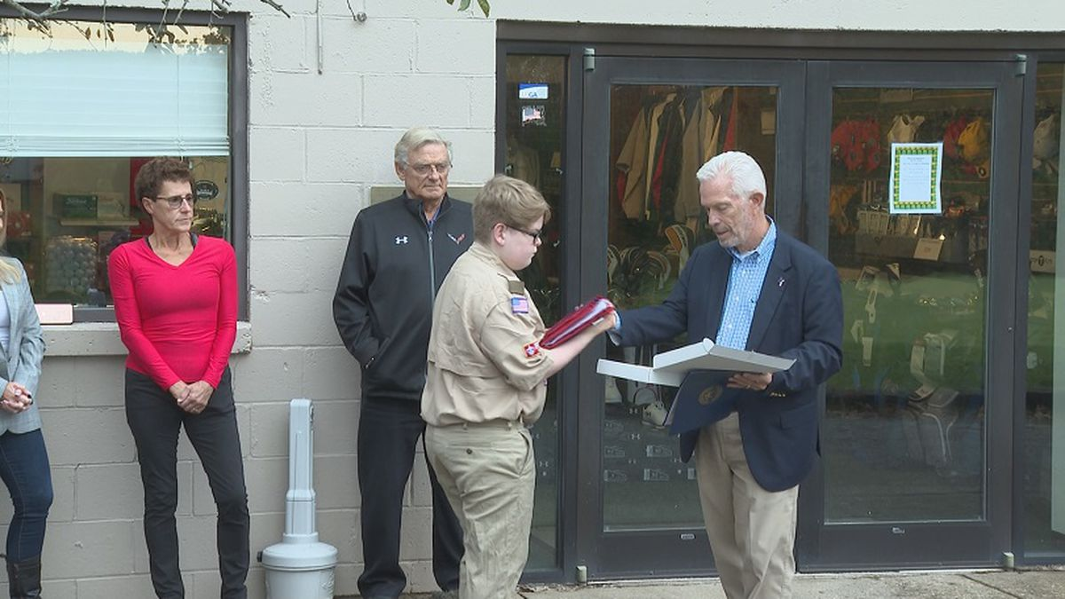 Congressman Bill Johnson was in Marietta to attend a flag-changing ceremony