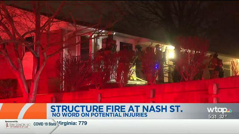 Nash Street Structure Fire