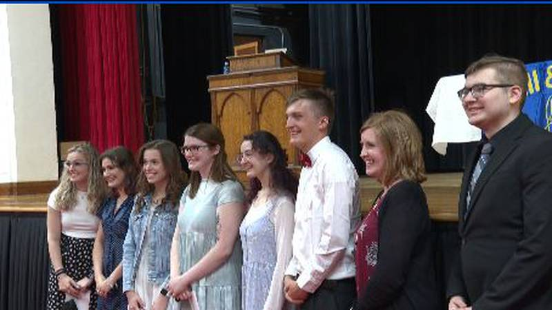 Students at PHS inducted into Quill and Scroll honor society.