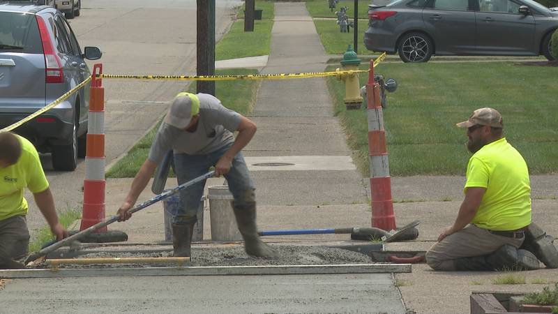 Construction continues for the Parkersburg Sidewalk Replacement Program