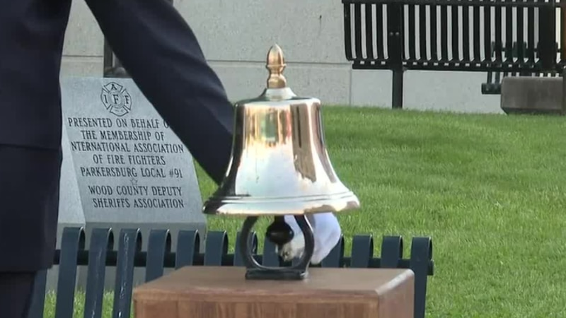 A bell is rung three times for each member who passed away in 2019 and 2020