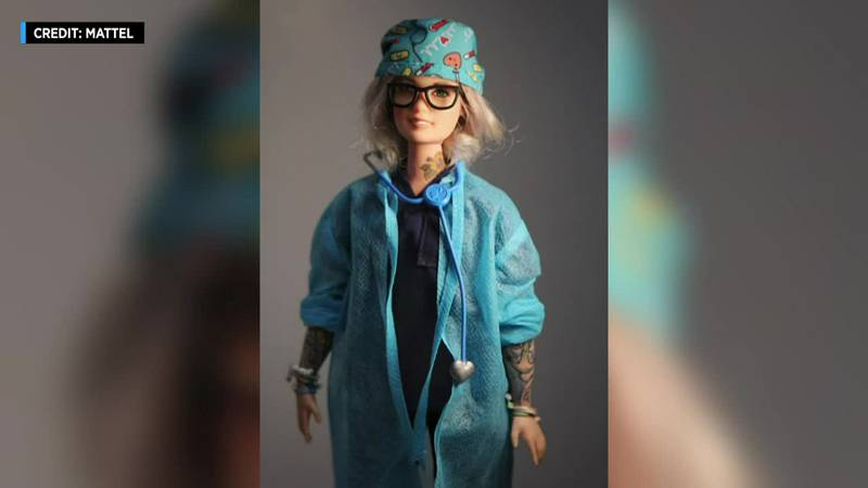 A New York nurse gets a Barbie made in her likeness.