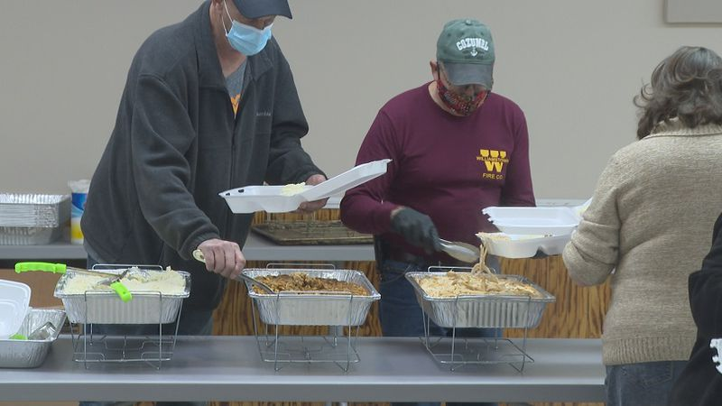 The Williamstown American Legion provides boxed Thanksgiving meals