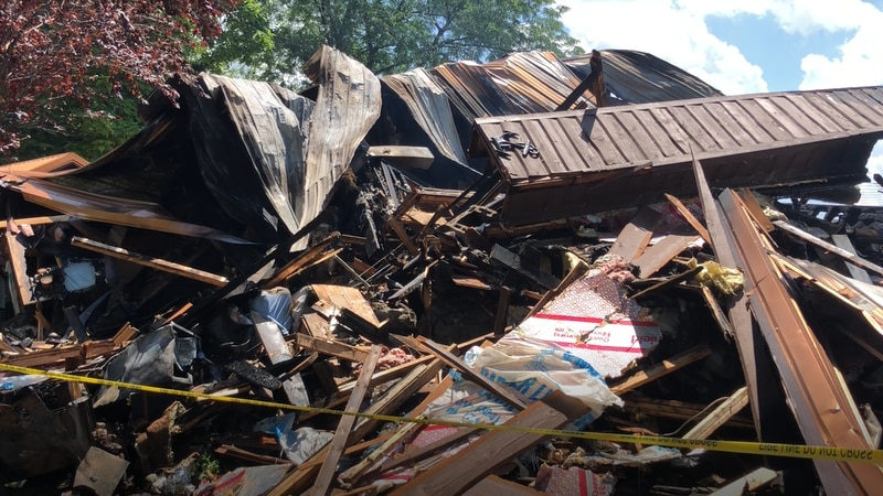 This is what is left of Mary Anne and Doug Ketelsen's home in Belpre