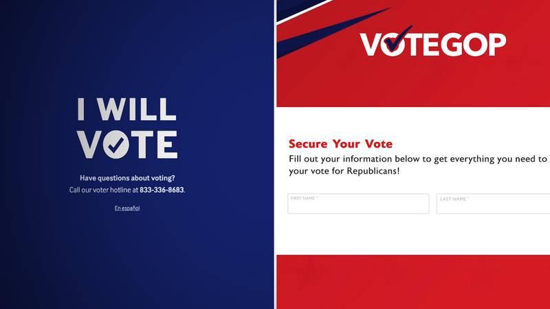 Party voter portals