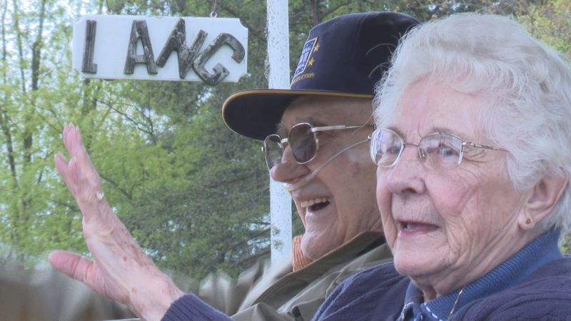 Mr. and Mrs. Lang will be married 73 years next month.