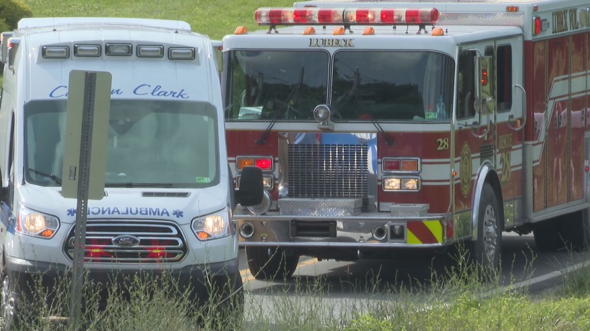 Emergency crews respond to a multi-vehicle crash late Monday afternoon on Gihon Road in south Parkersburg.