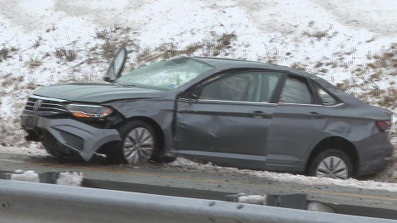 Wreck on I-77