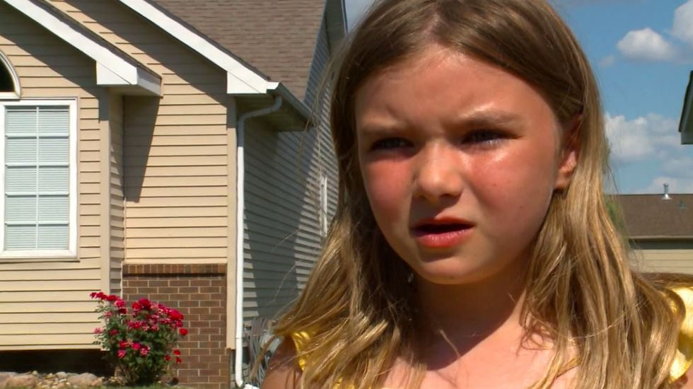 Maya Buffington, 8, found the explosive device in the middle of the street while playing...