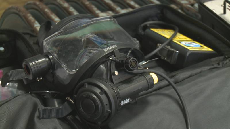 Divers will take their final certification tests on Sunday.