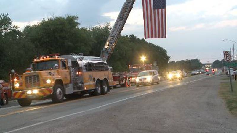 Convoy for solider returned home after 70 years