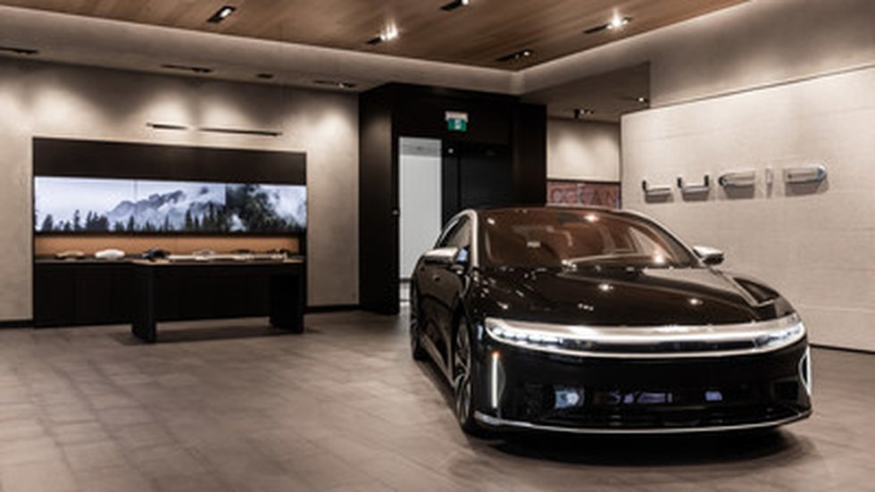 The Lucid Studio at CF Pacific Centre in Vancouver, B.C. open its doors to customers today,...