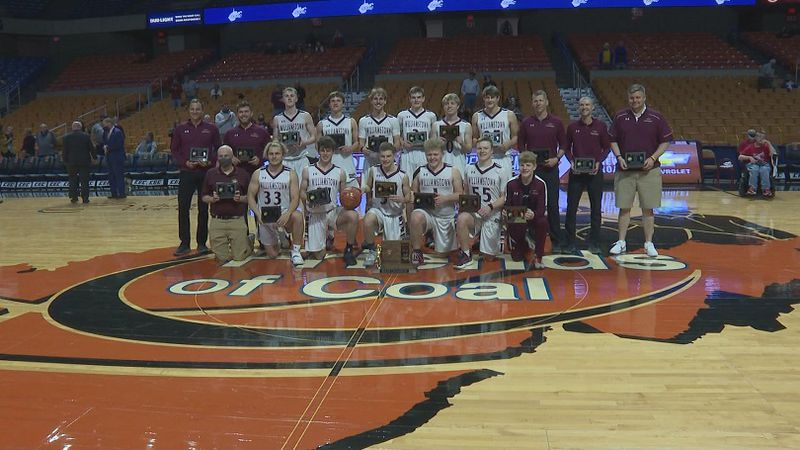 The Williamstown 2021 Boy's Basketball team is the Class AA state champions