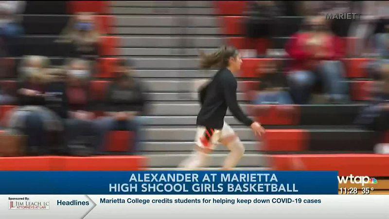 WTAP News @ 11 - Alexander at Marietta high school girls basketball