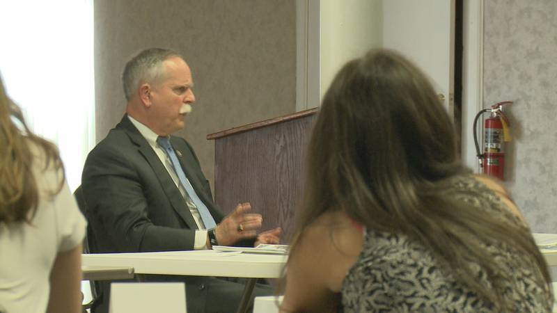 Students gathered at Parkersburg Art Center to learn from the congressman.