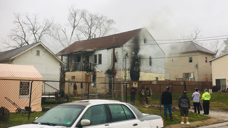 Structure fire on the 2000 block of 16th Street in Parkersburg.