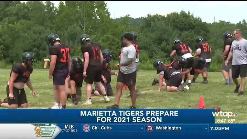 Marietta football practice begins