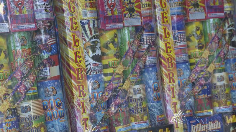 Local firework stores are low on their supply than normal due to shipping delays from China.
