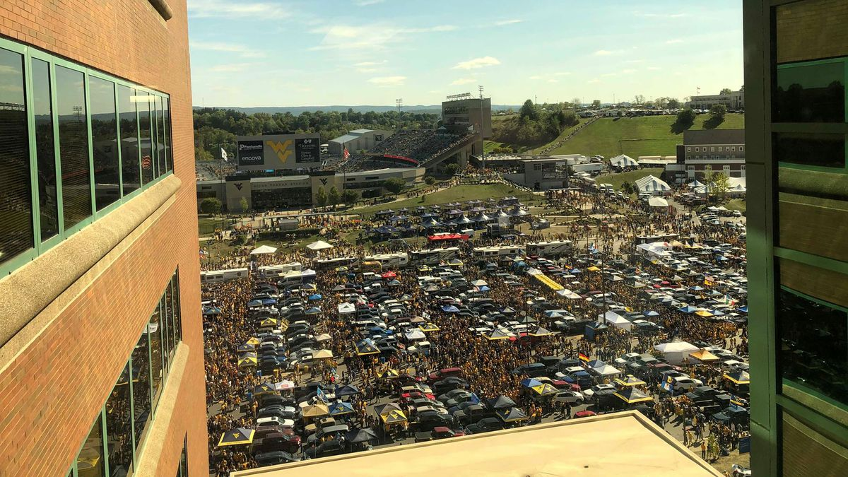 The parking lot of J.W. Ruby Memorial Hospital (Source: Hunter Wilson)