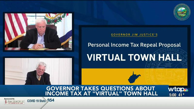"WTAP News @ 5 - Governor takes questions about income tax at ""virtual"" town hall"