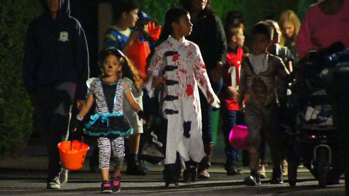 File photo: Trick-or-treaters