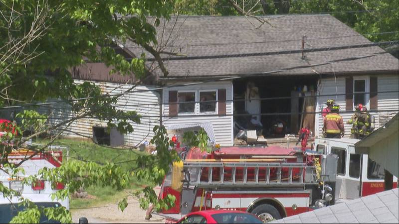Fire damages home in Wood County.
