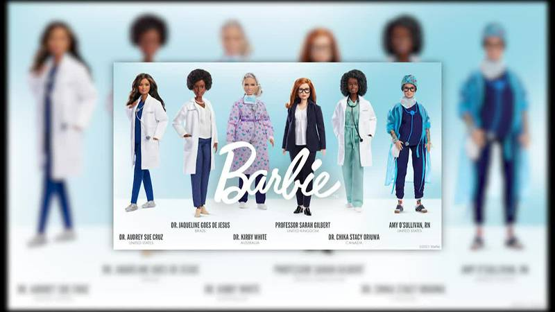 Mattel honors global frontline medical workers with one-of-a-kind Barbie dolls.