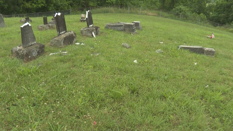 Wigal Cemetery has been vandalized
