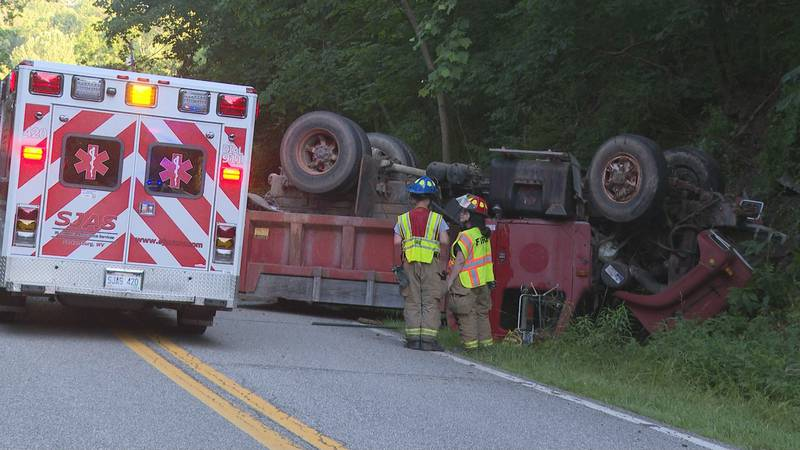 Rescuer of dump truck driver talks about aftermath of event