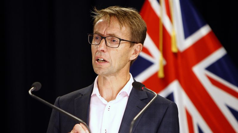 FILE - In this March 21, 2020 file photo, New Zealand Director-General of Health Dr. Ashley...