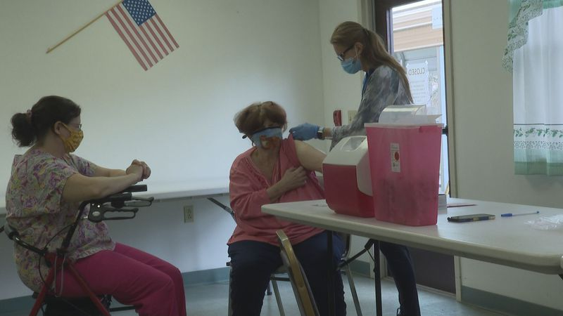 The Mid-Ohio Valley Health Department vaccinated about 40 residents at the Unity Apartments in...